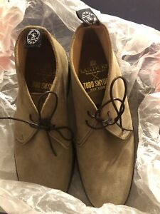 New In Box! SANDERS X TODD SNYDER Men's Dirty Buck Suede Boots #1481DLS Size 9.5