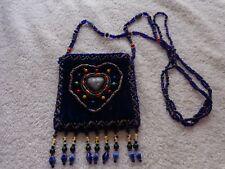 Handmade Alaska Native American Beaded Necklace Pouch Beautiful Condition
