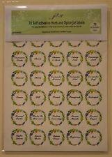 70 J & S Circular Herb & Spice Jar Labels - 35mm Diameter - Self Adhesive