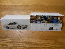 1989 CADILLAC ELDORADO SEVILLE EXTERIOR PAINT CHIPS BROCHURE & INVITATION CARD