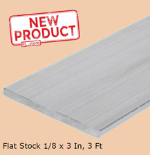 Aluminum Bar Flat Stock 1/8 x 3 Inch x 3 Ft Alloy 6061 Unpolished Sheets NEW