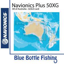 Navionics Plus (Gold) 50XG All Australia, NZ, with Fish Layer Preloaded Nav +