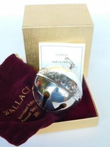 """Wallace 2006 Silver Plate """"Doves"""" Sleigh Bell 36th Ltd Ed Annual Ornament Boxed"""