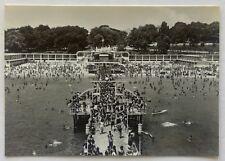 Bulgaria Varna Beach Sea Baths 1960 Postcard (P319)