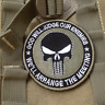 GOD WILL JUDGE OUR ENEMIES PUNISHER INFIDEL MORALE Hook &Loop PATCH GREEN