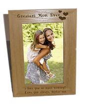 GREATEST MOM mai in legno Photo Frame 6x8-personalizzare questo riquadro-libera engrav