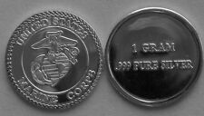 (50) 1 GRAM 0.999+ PURE SILVER MARINE CORPS FLAG SYMBOL SEMPER FI 2015