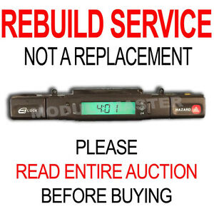 Rebuild Repair for 95 96 97 Jaguar XJ6 XJR X300 Center Console Switch LCD Clock