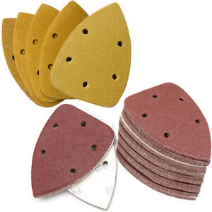 Hook and Loop 140x90mm 5 Hole Detail Palm Sanding Sheets / Mouse Sandpaper Pads