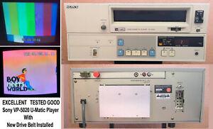 "Sony VP-5020 Videocassette Player U-matic 3/4"" w/New Belt - EXCELLENT! LOC.PU LA"
