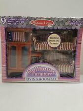 Melissa & Doug Dollhouse Living Room Set
