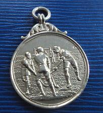 Plata esterlina temprano FOB medalla H/m 1911-hockey/Shinty-no grabado
