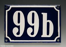 Emaux, E-Mail-numéro de maison 99b en bleu/blanc pour 1960