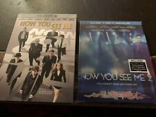 3-Disc Blu-Ray/DVD - Now You Can See Me 1 & 2 (**NO Digital) w/ Slipcovers RARE
