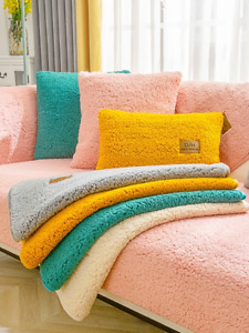 Sofa Covers Towel Soft Plush Couch Cover Room Bay Window Pad L-shaped Sofa Decor
