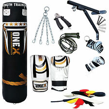 New13 Piece 5ft heavy Filled Boxing Punch Bag Set,Gloves,Bracket,Chains MMA Pad
