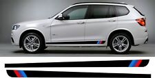 BMW X3 M Sport style Side stripes Decals Stickers X Drive 20d 30d 28i 25si 35i
