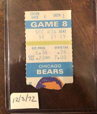1972 Chicago Bears Minnesota Vikings NFL Football ticket stub Tarkenton Butkus