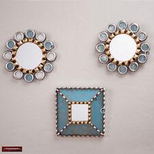 Sunburst Round mirror set 3 from Peru - Decorative Turquoise mirror set for Wall
