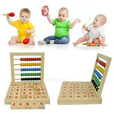 Wooden Frame Abacus Children Kids Counting Number Maths Learning Educational Toy
