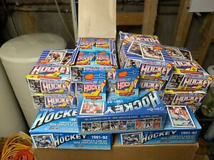 1991-1992 OPC NHL Wax Box and Sets- Auction is for ALL 14 wax boxes and 3 sets