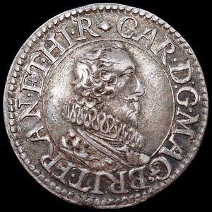 Charles I, 1625-49. Pattern Silver Halfgroat, By Nicholas Briot.