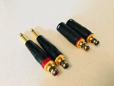"WBT Nextgen RCA to Neutrik XLR Adapter Pair Genuine Parts Plus 1/4"" to RCA Pair"