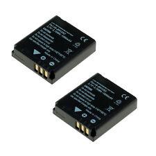 2 baterías para Panasonic Lumix dmc-fx07