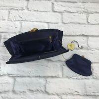 Morris Moskowitz MM Women's clutch handbag purse vintage with coin purse black