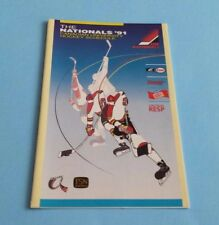 1991 Canadian University CIAU/CIS/Usports Hockey Pocket Schedule