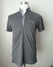 STEEL & JELLY men's size M cotton short sleeve gray slim shirt Made in Turkey