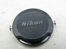Nikon Genuine Clip On Lens Cap Cover 34.5mm Chrome Tabs