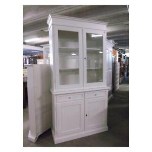 Showcase 2 Doors, White Matt CMS 105X42X205H