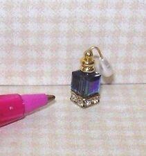 Miniature Perfume Bottle/Crystal Base, Atomizer/Montana Blue AB: DOLLHOUSE 1:12