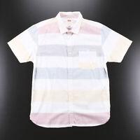 Vintage LEVI'S White Block Striped Shirt Size Mens Large