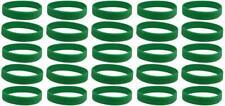 25 Green Mental Health Awareness Bracelets - High Quality Silicone Bracelets