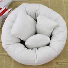 EG_ 4Pcs Baby Newborn Photography Pillow Basket Filler Wheat Donut Posing _GG