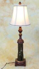 Tischlampe Lampe Stehleuchte Stoffschirm Schmiedeeisen antik Look PQ012-b