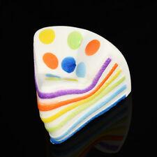 Jumbo Kawaii Fake Dot Rainbow Cake Squishy Slow Rising Soft Bread Bun Food Toys