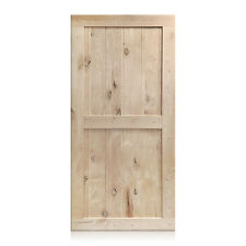 """Camilia Design Rustic Unfinished Knotty Alder Barn Door 36""""x96"""" (Free Shipping)"""
