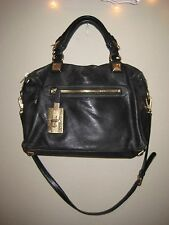 Michael Kors Calista Black Handbag Gold Hardweare
