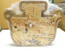 VINTAGE HAND CRAFTED AND SIGNED WOODEN PUZZLE