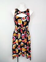 Anthropologie Lilka Women's Floral Cutout Tie Waist Dress Size Medium