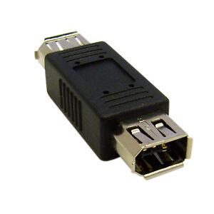 Firewire Coupler Gender Changer IEEE-1394a 6 Pin Female/6 Pin Female 30E3-00400