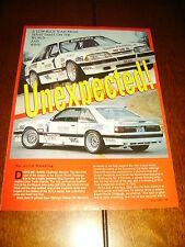 1992 MUSTANG BAER RACING SALEEN RACE CAR ***ORIGINAL 1992 ARTICLE***