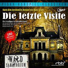 Die letzte Visite - CD Hörspiel Krimi Hans Gruhl MP3-CD Pidax Neu Ovp