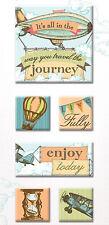 Paper House JOURNEY 3-D Canvas Art Stickers scrapbooking TRAVEL PLANE BALLOON
