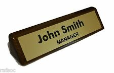 Personalized WALNUT NAME PLATE BAR engraved desk office