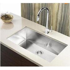 "30"" Zero Radius Single Bowl Undermount 16 Gauge Stainless Steel Kitchen Sink"