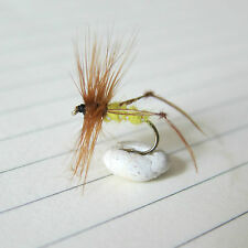3 x Mouche pêche truite criquet HOPPER Yellow tricoptero Pesca Mosca  H 12 14